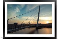 Sail Bridge Sunset, Framed Mounted Print
