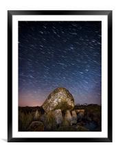 Falling Stars, Framed Mounted Print