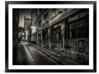 Lone Lane, Framed Mounted Print