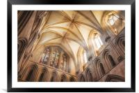 Divine Rays, Framed Mounted Print