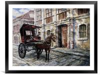 Red Carriage, Framed Mounted Print