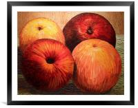 Apples and Oranges, Framed Mounted Print