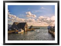 Autumn afternoon seascape on Cape Cod, Framed Mounted Print