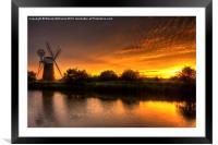 Turf Fen Sunset, Framed Mounted Print