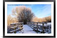 Snowy Nantwich, Framed Mounted Print