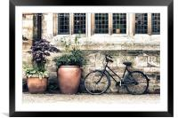 Bicycle and Pots, Framed Mounted Print