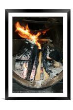 Firewood, Framed Mounted Print