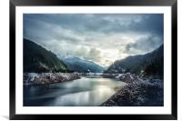 Cougar Reservoir on a Snowy Day, Framed Mounted Print