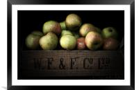 Apple Crate, Framed Mounted Print