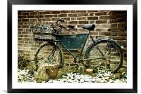 The Old Bike, Framed Mounted Print