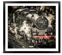 Steam Train at Swanage, Framed Mounted Print