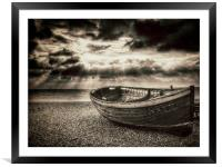 Brighton Beach Boat, Framed Mounted Print