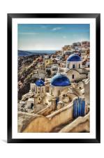 Oia, Santorini, Greece, Framed Mounted Print