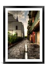 Pirate Alley, Framed Mounted Print