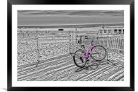 Pink Bicycle, Framed Mounted Print