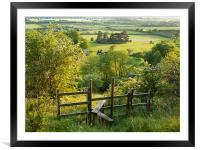 Aldbury Nowers, Framed Mounted Print