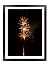 Firework Threesome, Framed Mounted Print