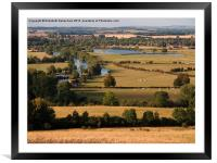 Dorchester-on-Thames from Wittenham Clumps, Framed Mounted Print