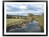 River Ver at St Albans, Framed Mounted Print