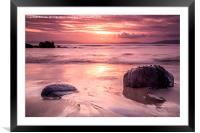 Sunset Seascape, Framed Mounted Print
