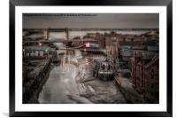 Old River Hull - SinCity Series, Framed Mounted Print