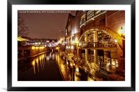 Brindleyplace At Night, Framed Mounted Print