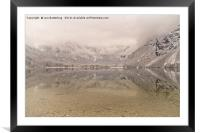 Lake Bohinj Reflection, Framed Mounted Print
