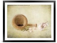 Garlic & peppercorns, Framed Mounted Print