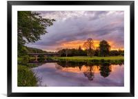 River Don Sunset, Framed Mounted Print