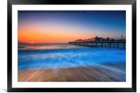 Paignton Beach Sunrising., Framed Mounted Print