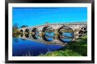 River Severn Bridge At Atcham, Framed Mounted Print