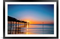 Teignmouth Pier Sunrise, Framed Mounted Print