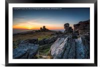 Staple Tor Sunset, Framed Mounted Print