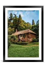 Cockingtons gamekeepers cottage., Framed Mounted Print