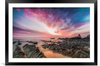 Hartland Quay Sunset, Framed Mounted Print