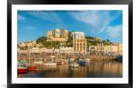 Torquay Harbourside., Framed Mounted Print