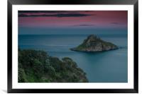 Thatcher Rock Torquay at Sunset , Framed Mounted Print