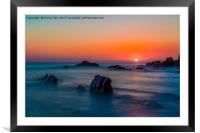 Ghostly Sunset., Framed Mounted Print