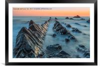 Hartland Quay Sunset., Framed Mounted Print