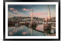 Torquay Marina Millennium Bridge., Framed Mounted Print