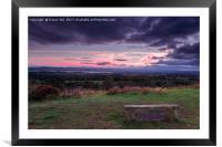 Exe Estuary Sunset., Framed Mounted Print