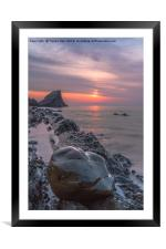 Hartland Quay Sunset., Framed Mounted Print