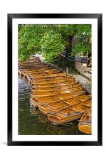 Boats for hire, Framed Mounted Print