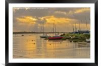 Maldon Sunrise, Framed Mounted Print