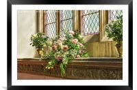 Floral Display, Framed Mounted Print