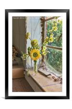 The Window Sill, Framed Mounted Print