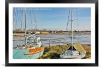 Between the masts, Framed Mounted Print