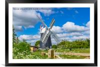 Thelnetham Tower mill, Framed Mounted Print