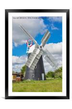 Thelnetham Tower mill, Framed Mounted Print