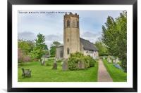 All Saints Church  Old  Buckenham, Framed Mounted Print